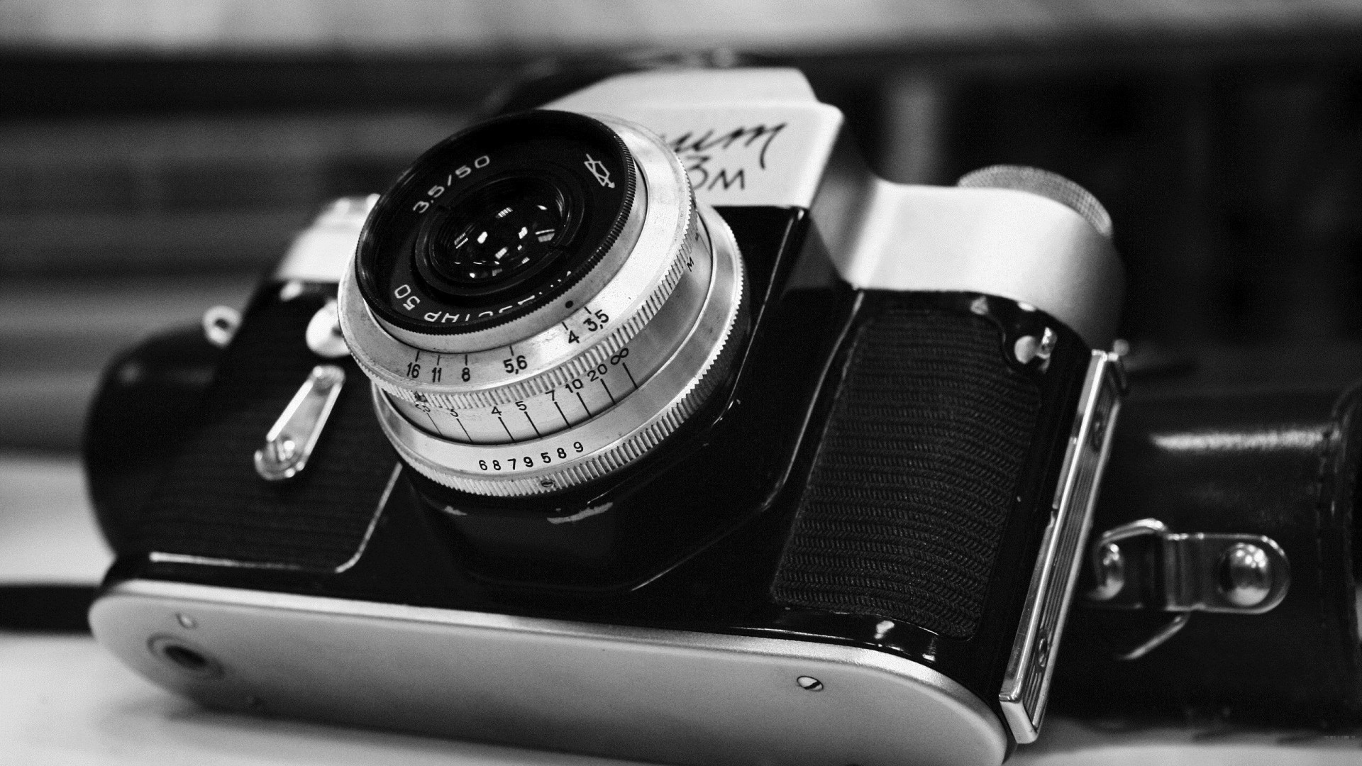 Camera black and white photography hd wallpaper